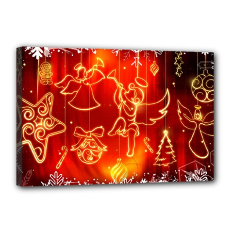 Christmas Widescreen Decoration Canvas 18  x 12