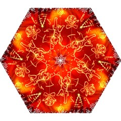 Christmas Widescreen Decoration Mini Folding Umbrellas