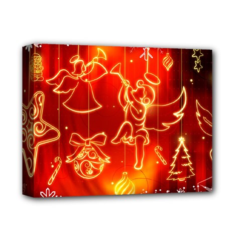 Christmas Widescreen Decoration Deluxe Canvas 14  x 11