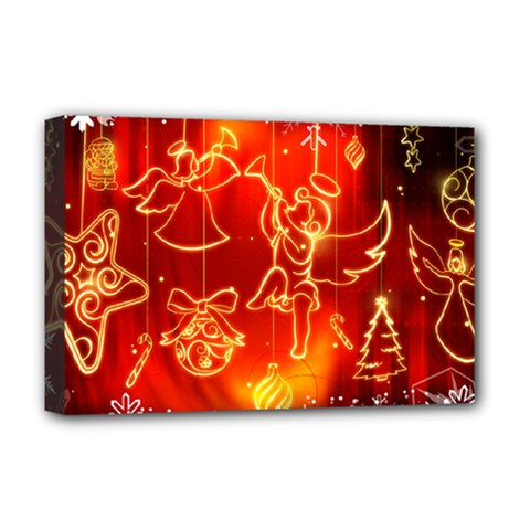 Christmas Widescreen Decoration Deluxe Canvas 18  x 12