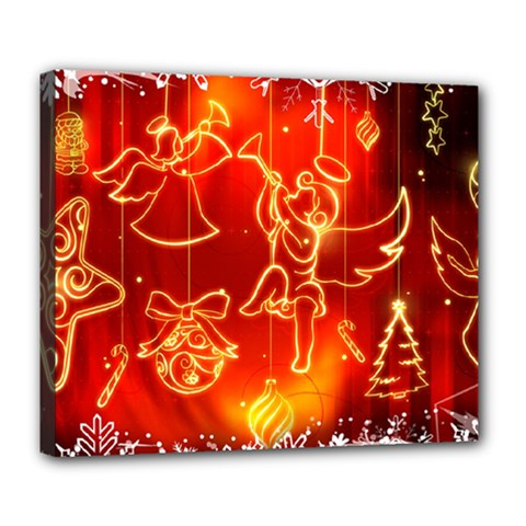 Christmas Widescreen Decoration Deluxe Canvas 24  x 20