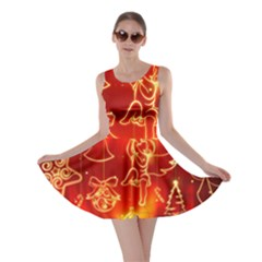 Christmas Widescreen Decoration Skater Dress