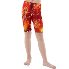 Christmas Widescreen Decoration Kids  Mid Length Swim Shorts