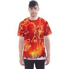 Christmas Widescreen Decoration Men s Sport Mesh Tee