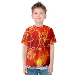 Christmas Widescreen Decoration Kids  Cotton Tee