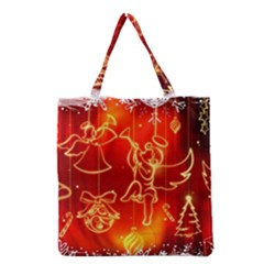 Christmas Widescreen Decoration Grocery Tote Bag