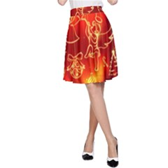 Christmas Widescreen Decoration A-Line Skirt