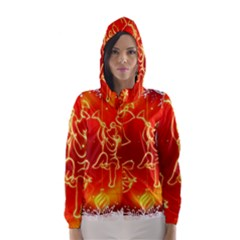 Christmas Widescreen Decoration Hooded Wind Breaker (Women)