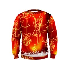 Christmas Widescreen Decoration Kids  Sweatshirt