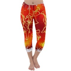 Christmas Widescreen Decoration Capri Winter Leggings