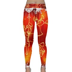 Christmas Widescreen Decoration Classic Yoga Leggings