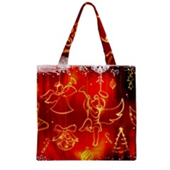 Christmas Widescreen Decoration Zipper Grocery Tote Bag