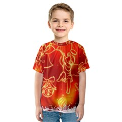 Christmas Widescreen Decoration Kids  Sport Mesh Tee