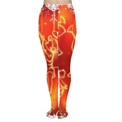 Christmas Widescreen Decoration Women s Tights