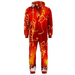Christmas Widescreen Decoration Hooded Jumpsuit (Men)