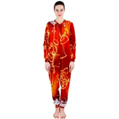 Christmas Widescreen Decoration OnePiece Jumpsuit (Ladies)