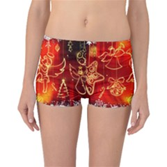 Christmas Widescreen Decoration Boyleg Bikini Bottoms