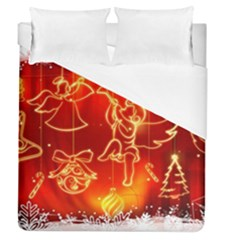 Christmas Widescreen Decoration Duvet Cover (Queen Size)