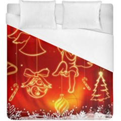 Christmas Widescreen Decoration Duvet Cover (King Size)