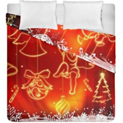 Christmas Widescreen Decoration Duvet Cover Double Side (King Size)