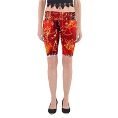Christmas Widescreen Decoration Yoga Cropped Leggings