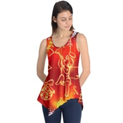 Christmas Widescreen Decoration Sleeveless Tunic