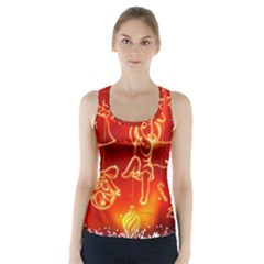 Christmas Widescreen Decoration Racer Back Sports Top