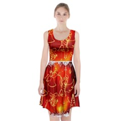 Christmas Widescreen Decoration Racerback Midi Dress