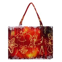 Christmas Widescreen Decoration Medium Tote Bag