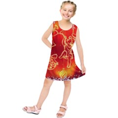 Christmas Widescreen Decoration Kids  Tunic Dress