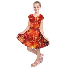 Christmas Widescreen Decoration Kids  Short Sleeve Dress