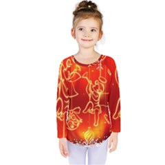 Christmas Widescreen Decoration Kids  Long Sleeve Tee