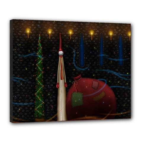 Christmas Xmas Bag Pattern Canvas 20  x 16