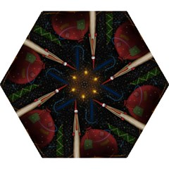 Christmas Xmas Bag Pattern Mini Folding Umbrellas