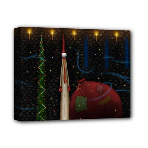 Christmas Xmas Bag Pattern Deluxe Canvas 14  x 11