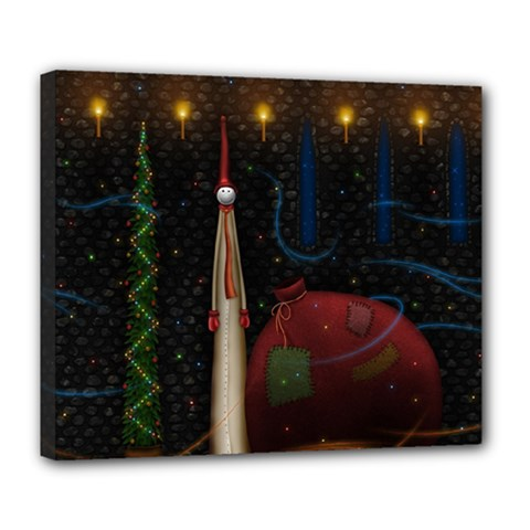 Christmas Xmas Bag Pattern Deluxe Canvas 24  x 20