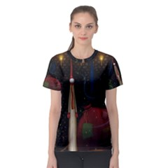 Christmas Xmas Bag Pattern Women s Sport Mesh Tee