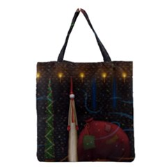 Christmas Xmas Bag Pattern Grocery Tote Bag