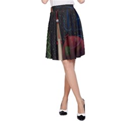 Christmas Xmas Bag Pattern A-Line Skirt