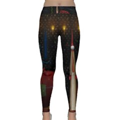 Christmas Xmas Bag Pattern Classic Yoga Leggings