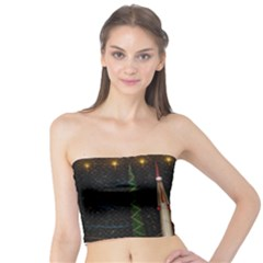 Christmas Xmas Bag Pattern Tube Top