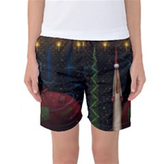 Christmas Xmas Bag Pattern Women s Basketball Shorts