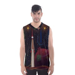Christmas Xmas Bag Pattern Men s Basketball Tank Top