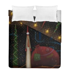 Christmas Xmas Bag Pattern Duvet Cover Double Side (Full/ Double Size)