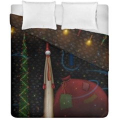 Christmas Xmas Bag Pattern Duvet Cover Double Side (California King Size)