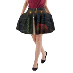 Christmas Xmas Bag Pattern A-Line Pocket Skirt