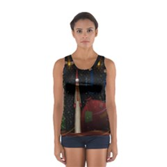 Christmas Xmas Bag Pattern Women s Sport Tank Top