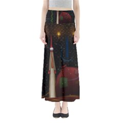 Christmas Xmas Bag Pattern Maxi Skirts