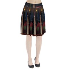 Christmas Xmas Bag Pattern Pleated Skirt