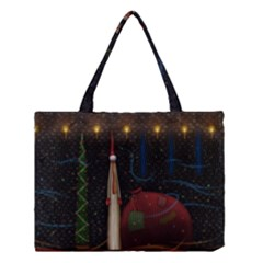 Christmas Xmas Bag Pattern Medium Tote Bag